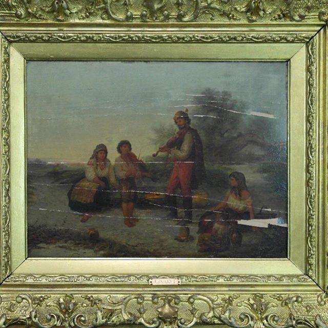 Реставрация картины начала XX в. Картон, масло. Неизвестный художник. #реставрациякартин #реставрацияживописи #реставрационныемастерские